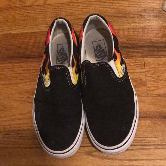 6311651c8fd1 Vans Shoes - Vans- Flame slip on - men s 7.5
